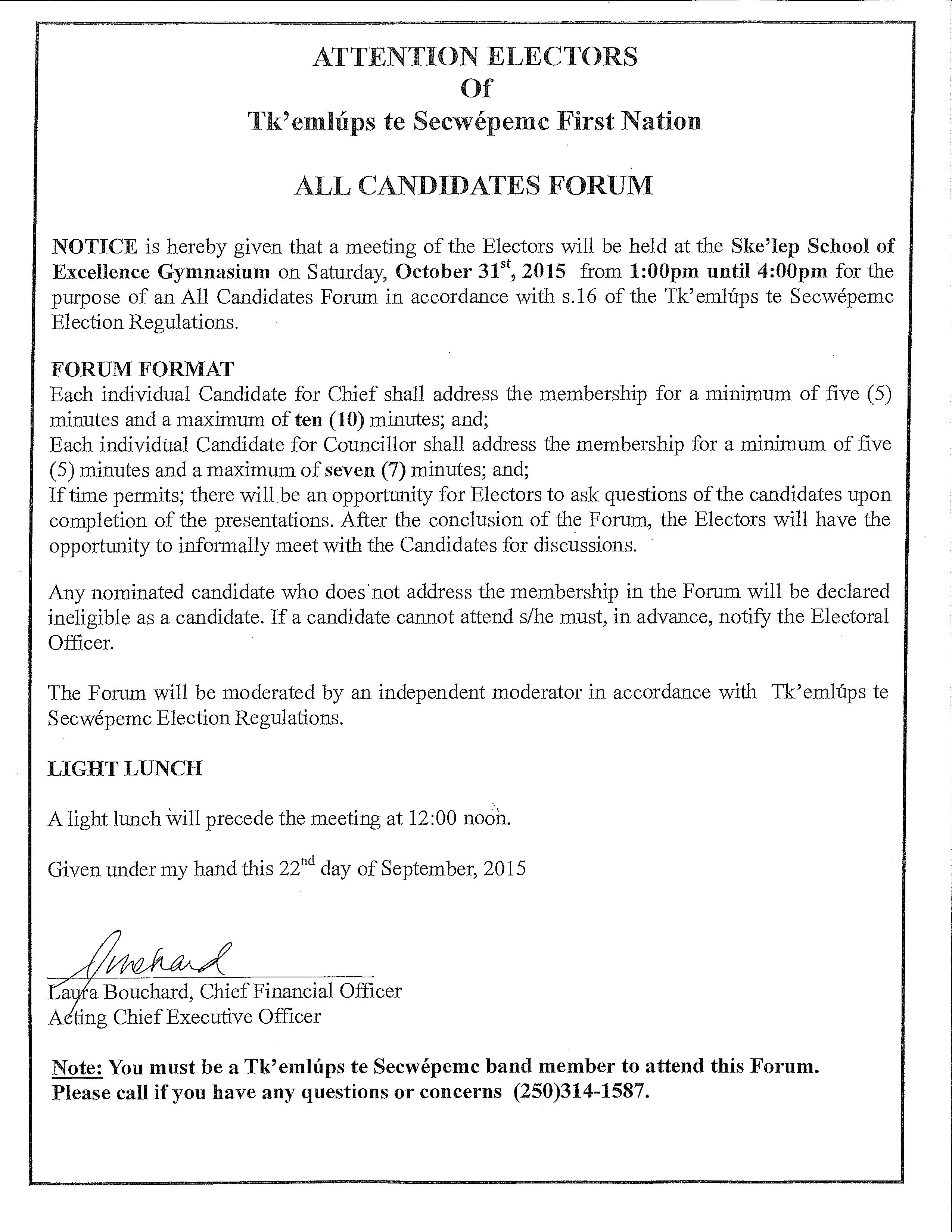 All Candidates Forum Notice 2[2]