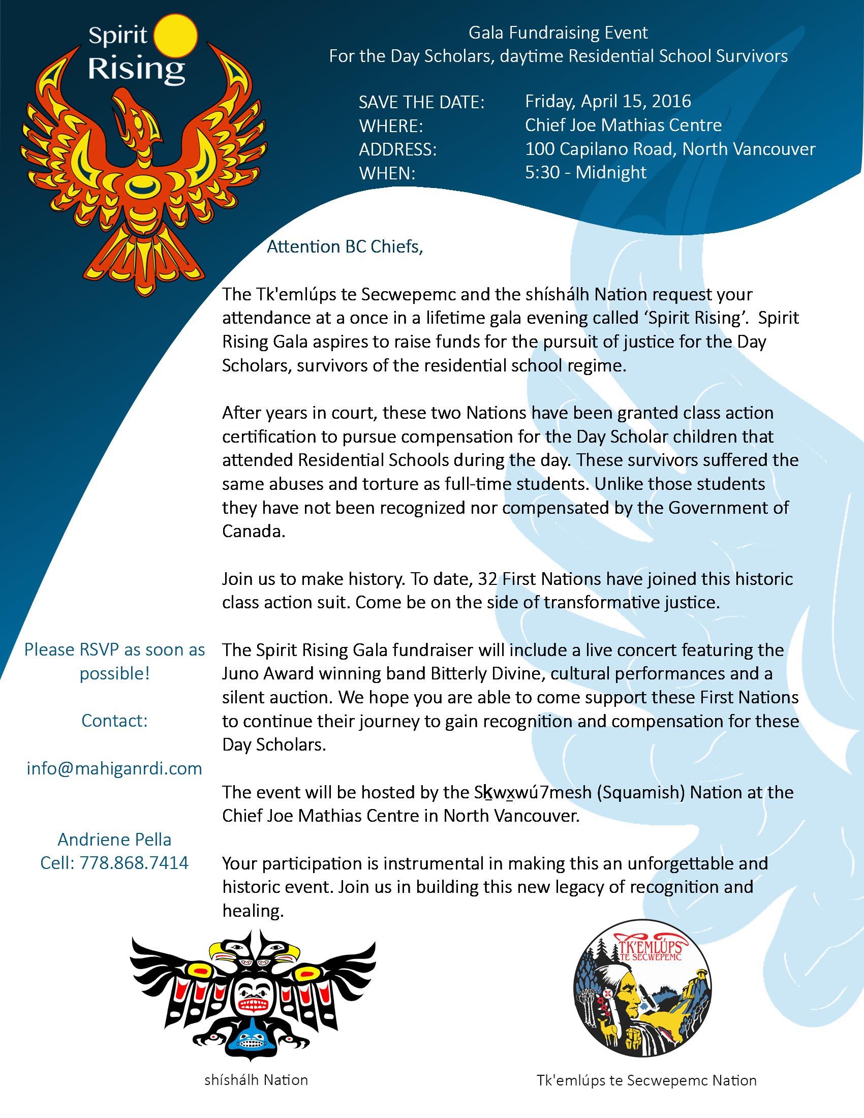 Spirit Rising Event Invitation AFN Chiefs